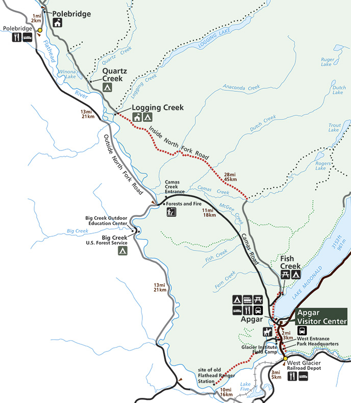 picture relating to Printable Map of Glacier National Park named Bicycling - Glacier Nationwide Park (U.S. Nationwide Park Provider)